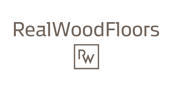 Real Wood Floors Hardwood Logo with Pure White Background